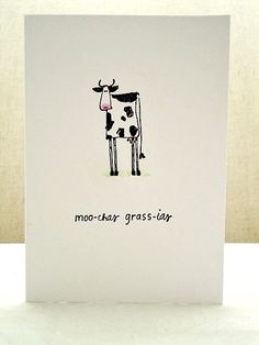 Moochas Grassias Thank You Card Set  Muchas by ThePaperMenagerie, $16.00