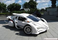 A Campagna T-rex three wheeler with the optional Aero 3S enclosed body