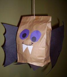 Paper bag bat - free patterns included