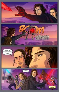 """""""Couldn't help but draw a comic based on this post by @reybens that I saw via @thedarkbluemoon Hope you like it! :) """""""