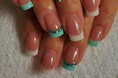 Teal and white bling - would love to try this, but may be too young for me.  Oh, well...