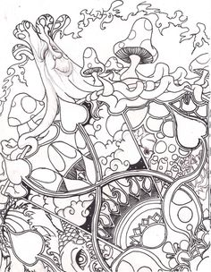home grown line art by froggychandeviantartcom on deviantart - Trippy Coloring Books