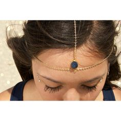 Drusy Druzy Quartz Gold Vermeil Head Chain Headpiece Headdress ($50) ❤ liked on Polyvore featuring accessories, hair accessories, grey and hair chain accessories