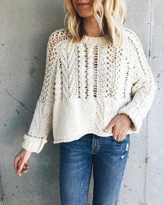Summer Knitting, Hand Knitting, Knitting Patterns, Crochet Jacket, Knit Crochet, Knit Fashion, Pulls, Sweaters, Cardigans