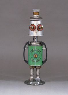 ROBOT SCULPTURE  Metal art robot Metal art by CastOfCharacters23