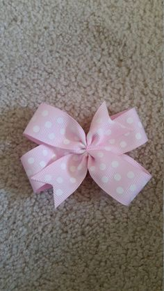 Check out this item in my Etsy shop https://www.etsy.com/listing/264079569/pink-polka-dot-bow