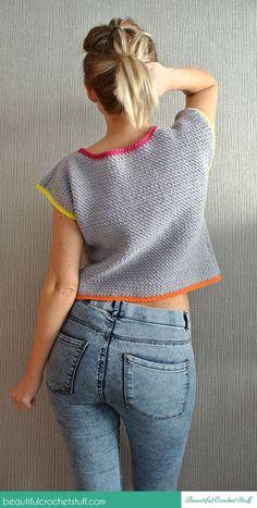 Fabulous Crochet a Little Black Crochet Dress Ideas. Georgeous Crochet a Little Black Crochet Dress Ideas. Pull Crochet, Crochet Shirt, Crochet Crop Top, Free Crochet, Crochet Summer, Crochet Tops, Crochet Bodycon Dresses, Black Crochet Dress, Diy Top