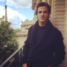 Gaspard Ulliel with Eiffel tower in background Vogue Paris, Ulliel Gaspard, Wind Blown Hair, Kylie Scott, Interview, French Man, French Models, English, Guy Pictures