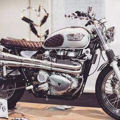 I thoroughly like the things that these folks designed on this customized Triumph Motorbikes, Triumph Scrambler, Triumph Bonneville, Triumph Motorcycles, Vintage Motorcycles, Custom Motorcycles, Custom Bikes, Cafe Bike, Cafe Racer Motorcycle