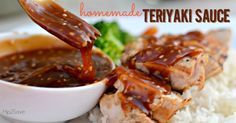 Tweaked for a 5 minute homemade teriyaki marinade. Use one of the sugars (honey OR brown sugar) and leave out the cornstarch mixture. Don't heat. Store in jar - matures with time, lasts 2 weeks. Awesome marinade for chicken or mix with cooked rice. 8-27-16 ecs.