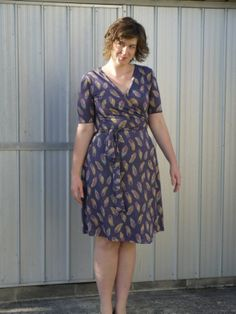 Ultimate Wrap Dress by Sew Over It Dress Skirt, Wrap Dress, Sew Over It, Bird Feathers, Dressmaking, Sewing Projects, Sewing Patterns, Fancy, Legs