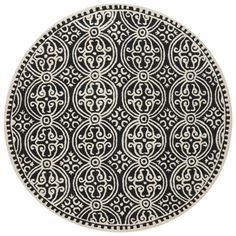 Safavieh Handmade Moroccan Cambridge Black Wool Rug (8' Round) | Overstock.com Shopping - Great Deals on Safavieh Round/Oval/Square