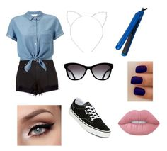 """""""Untitled #43"""" by cowther-alhagar on Polyvore featuring rag & bone, Miss Selfridge, Vans, Chanel, Cara, Hair Rage and Lime Crime"""