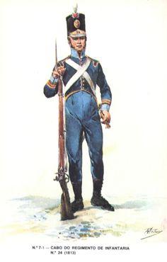 Portuguese; 24th Infantry Regiment, Corporal 1813