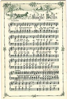 printable Christmas sheet music for small piano