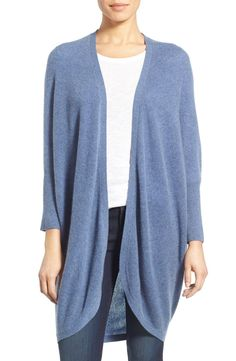 In love with this darling cashmere kimono cardigan in a gorgeous blue heather. This cozy Anniversary Sale piece  will be perfect for lounging around the house.