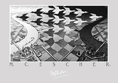 Day and Night Poster Print by M.C. Escher (27 X 19) Bruce…