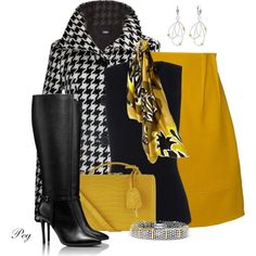 Solid Mustard Yellow Skirt, created by derniers on Polyvore