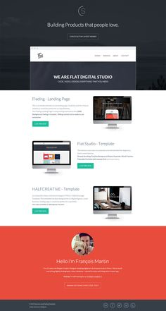 Lovely responsive one pager with beautiful CSS transitions in a crisp flat design for Belgian Graphic Designer, François Martin.
