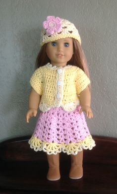 Crochet Dolls Clothes free crochet patterns for american girl doll clothes - Yahoo Image Search Results - American Girl Outfits, American Doll Clothes, Ag Doll Clothes, American Girls, Crochet Doll Dress, Crochet Doll Clothes, Crochet Doll Pattern, Crochet Patterns, Crochet Outfits