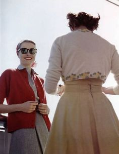 To travel is to discover that everyone is wrong about other countries. - Aldous Huxley       Grace Kelly and friend en route for Monaco aboard the SS Constitution. [via satumetsa]