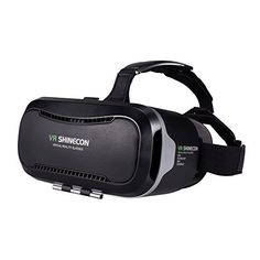 VR SHINECON VR Headset, VR Goggles 3D VR Glasses Virtual Reality Headset VR Box for 3D Video Movies Games for Apple iPhone, Samsung Galaxy Note HTC Google Nexus LG More Smartphones >>> You can get more details by clicking on the image.