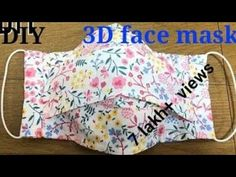 DIY FACE MASK/special mask/how to sew mask to prevent infection /handmade cloth mask - Masken - Schutz - DIY FACE MASK/coronavirus special mask/how to sew mask to prevent coronavirus/handmade cloth mas - Easy Homemade Face Masks, Easy Face Masks, Diy Face Mask, Facemask Homemade, Face Diy, Homemade Facial Mask, Sewing Hacks, Sewing Tutorials, Sewing Projects