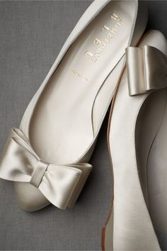 Bowtie Flats in SHOP Shoes & Accessories Shoes at BHLDN These would work as flats for a bridesmaid that isn't too keen on heels