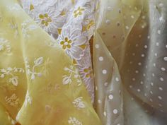 yellow flocked fabric