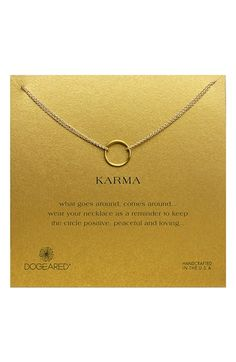 Dogeared+'Karma'+Two-Row+Pendant+Necklace+available+at+#Nordstrom