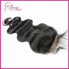 "Brazilian Virgin Hair Extension Lace Top Closure With Brazilian Hair Virgin Bundles 4""x4"" Body Wave Lace Closure"