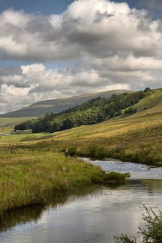 """wanderthewood: """"Fly fisherman at Kingsdale Beck, Yorkshire Dales, England by jim ennis """" Landscape Photos, Landscape Art, Landscape Paintings, Landscape Photography, Nature Photography, Night Photography, Beautiful World, Beautiful Places, British Countryside"""