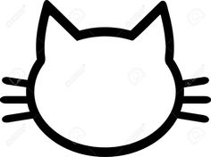 Cat Pictogram Head Royalty Free Cliparts, Vectors, And Stock Illustration. Cat Template, Templates, Cat Outline, Cat Icon, Kitty Party, Cat Birthday, Banner Printing, Cat Tattoo, Cat Face
