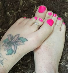 Barbie hot pink toe nails
