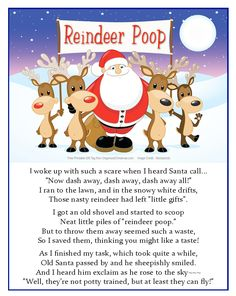 A gift for the naughty ones? Reindeer Poop! Get the Reindeer Poop recipe, Reindeer Poop poem, and free printable gift tags.
