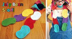 Free Crochet Pattern: Jelly Bean Scarf