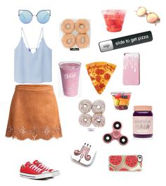 """""""Casual day😸"""" by sashpl ❤ liked on Polyvore featuring MANGO, Converse, Matthew Williamson, PhunkeeTree, Lime Crime and Casetify"""