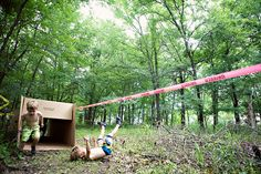 Obstacle course birthday party.