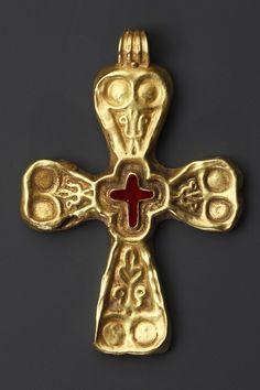 Oro, granate principios del periodo bizantino