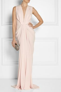 Thakoon | Draped matte-satin gown.