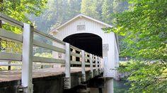mckenzie river covered bridge, oregon