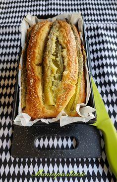 Plumcake salato con asparagi, cipollotto e pecorino