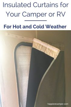 RV Camper Insulated Window Curtains - These help control the temperature in your RV or camper during extreme hot and cold weather! #rv #rving #camper