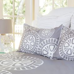 Great site for designer bedding | The Sunset Grey Duvet Cover | Crane and Canopy