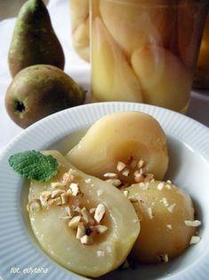 Gruszki w syropie na zimę Hummus, Ethnic Recipes, Food, Essen, Meals, Yemek, Eten