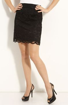 Halogen® Lace Skirt (Petite) | Nordstrom - StyleSays