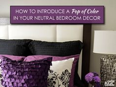 How to Introduce a Pop of Color in your Neutral Bedroom Decor Color Pop, Decor, Roofing, Bed Pillows, Neutral, Neutral Bedroom Decor, Bedroom Decor, Neutral Bedrooms, Color