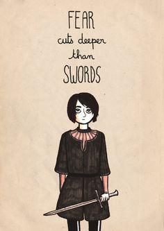 Arya Stark A4 Print. $25,00, via Etsy.