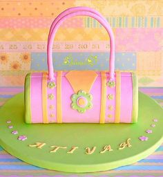 cute handbag for a little girl bday cake