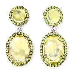 peridot jewelry   Shop Jewelry Earrings Drop Treasures of India Lemon Quartz and Peridot ...